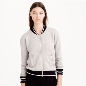 J. CREW Varsity Zip Up Sweatshirt Jacket XS